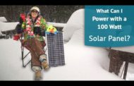 What can I power with a 100W solar panel?...