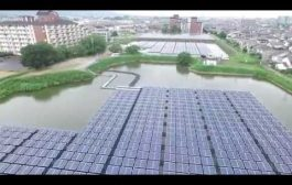 Solar Power Plant Floating System in Nara Prefecture, Japan...