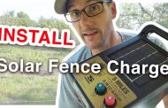 How To Install A Solar Charged Electric Fence...
