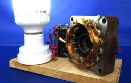 New Science Projects experiment free energy from 220v generator -...