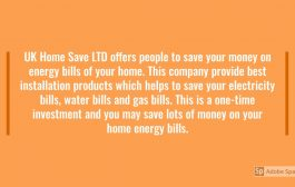 UK Home Save LTD    Best Company for Energy Saving Ideas and Prod...