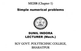 ME208 Chapter 1 Simple Numerical Problem by Sunil Indora SGVGPC B...