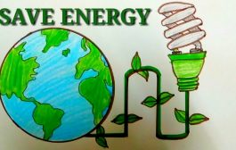 HOW TO DRAW SAVE ENERGY SAVE EARTH STEP BY STEP....