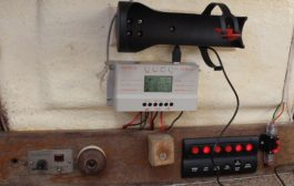 Easy to build solar power charging system installed on a small sa...