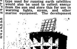 Power from the sun for maritime warning lights - archive, 8 June ...