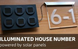 DIY: Illuminated House Number Powered By Solar Panels...