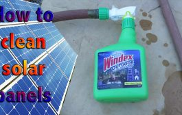 How to clean solar panels...