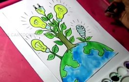 How to Draw Save Energy / Save Power Poster Drawing for Kids...