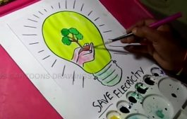 How to Draw Save Electricity /Save Energy Drawing for Kids...