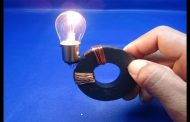 12v Light Bulb, Copper Wire with Magnets , Free Energy , simple 2...