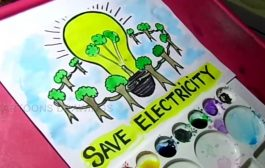 How to Draw Save Electricity / Save Energy poster Drawing for Kid...