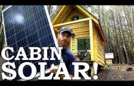 SOLAR POWER at the Cabin (Off Grid!) | Cabin Wildlife, Deer Arche...