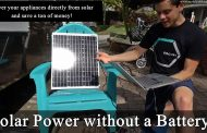 Solar Power without a Battery! Solar Panel + Converter = 12v for ...
