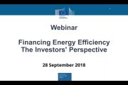 Webinar – Financing Energy Efficiency, The Investors' Perspec...